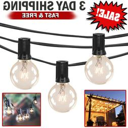 25Ft Outdoor Commercial Globe String Lights 25 Clear Bulbs P
