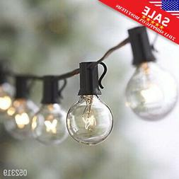25FT Outdoor G40 25 Bulbs Globe Patio String Lights Christma