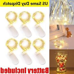 2m 20 LED Micro Silver Copper Wire String Fairy Lights Xmas