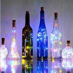 2M 20 LEDS Wine Bottle <font><b>Lights</b></font> With Cork