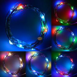 2M 20LED RGB Battery Powered Copper Wire Party Xmas Fairy LE