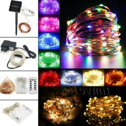 2M-50M Battery/Solar/Electric 20-400 LED Silver Copper Wire