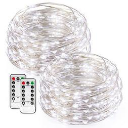 2x 50LED Copper Wire AA Battery Powered String Fairy Light w