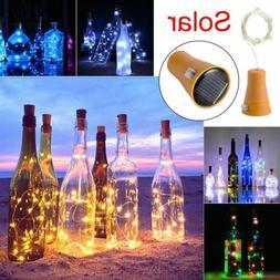 3/6 Solar Wine Bottle Lights 10 LED Cork Shaped Fairy String
