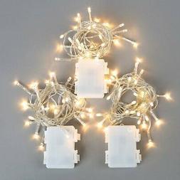 3 Pack Battery String Lights, 30 Warm White LEDs, 11 Ft. Str