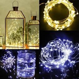 30/50/100 LED String Copper Wire Fairy Light Battery Powered