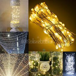 30/50/100 LED String Copper Wire Fairy Lights Battery Powere