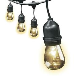 30 Black Dimmable 15 Decorative Clear Bulbs String