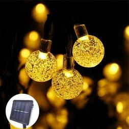 30 ft Crystal Ball Solar Power LED String Lights - Outdoor