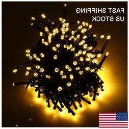 300/400/500LED Solar Power Warm White Fairy String Lights Ou