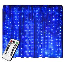 LIGHTESS Curtain String Lights 300 LED Christmas Fairy Outdo