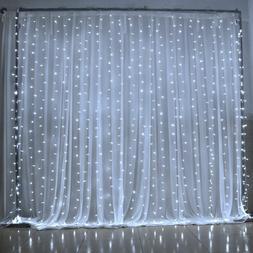 300 LED 3m Fairy Curtain String Lights Wedding Party Room De
