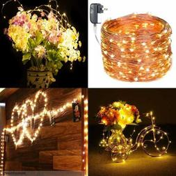 300 LED Fairy Lights 100 Ft Twinkle Firefly String Waterproo