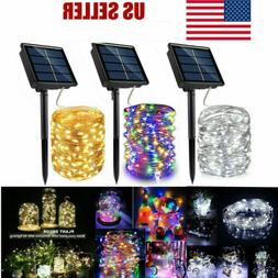 300 LED Solar Power Fairy Lights String Lamps Party Wedding