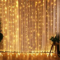 300LED/10ft Curtain Fairy Hanging String Lights Home Wedding