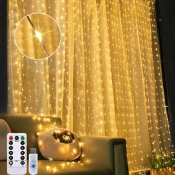 300LED Copper String Fairy Lights Curtain House Porch Decora