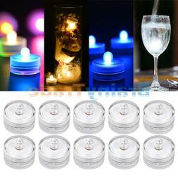 10X Submersible LED Lights Battery Powered Bright Tea Light