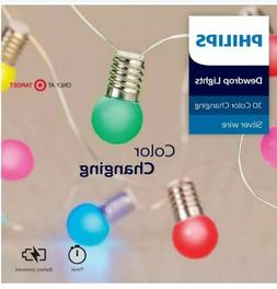 Philips 30ct Battery Operated  LED Dewdrop String Lights wit