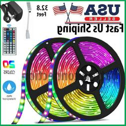 32.8 Feet RGB 5050 Flexible Led Strip Lights SMD 44 Key Remo