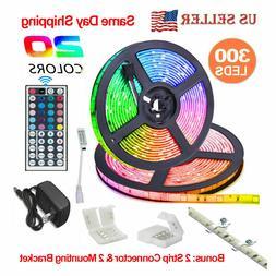 32.8 Feet RGB Waterproof LED Strip Light SMD 44 Key Remote 1