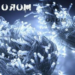 328Ft 500LEDs White String Fairy Lights Party Christmas Deco