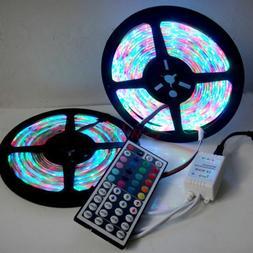 32FT/10M 3528 RGB Flexible Strip 600 SMD LED Light + 44 Key