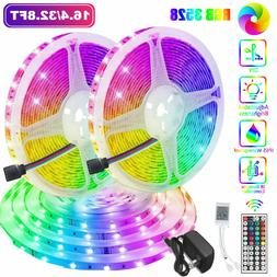 32FT Flexible 3528 RGB LED SMD Strip Light Remote Fairy Ligh