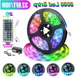 32FT Flexible 5050 RGB LED SMD Strip Light Fairy Lights Room