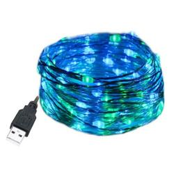 HAHOME 33Ft 100 LEDs USB Plug in Fairy String Lights for Wed