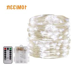 33ft 100Led Waterproof Battery Operated Fairy String Lights