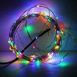 33ft  100LEDs Fairy Starry LED Wire String Lights - Warm Whi