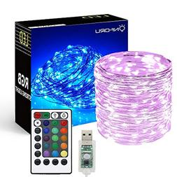 33ft RGB Fairy Lights Changing Outdoor String Lights 100 LED