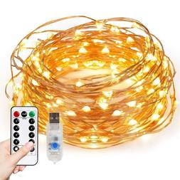FISHBERG 33FT Starry String Lights with Remote Control  NEW