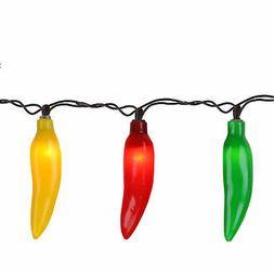 Northlight 35 Red Yellow Green Chili Pepper String Lights -
