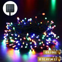 39.4ft 100 LED Solar Powered String Lights Fairy Garden Deco