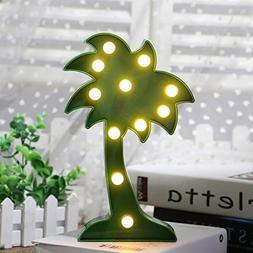 Hindom 3D Green Coconut Mini LED Christmas Animal Plant Warm