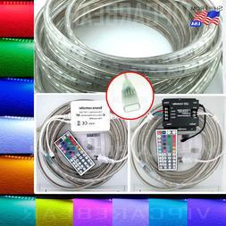 3ft-100ft 110V High Voltage 5050 SMD RGB LED Strip Rope Ligh