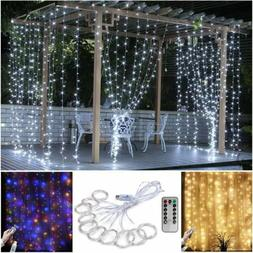 3M 300 LED Curtain Fairy String Lights USB Hanging Window Be
