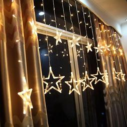 3M Warm White Star Lights 138 LED Fairy Wedding Curtain Stri