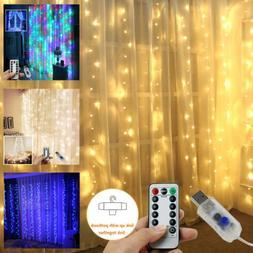 3M X 3M 300LEDs Waterproof USB LED Home Curtain String Light