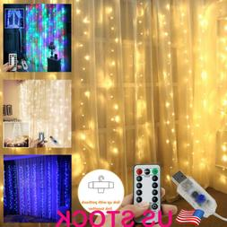 3M X 3M 300LEDs Waterproof USB LED Home Curtain String Light