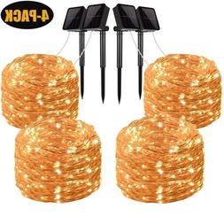 4 Solar Lights Fairy String Light Indoor Outdoor for Patio L