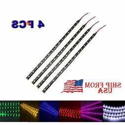 "4 PCS 12V 12"" 1FT 15SMD Flexible LED Strip Light Waterproof"