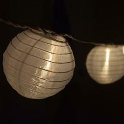 4 White Nylon Party String Lights