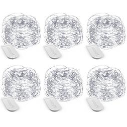 MustWin 6 Pack 13ft 40 LED Fairy Lights, String Lights Batte