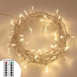 Koopower  16.4ft 40 LED Outdoor Fairy Lights - 8 Modes Batte