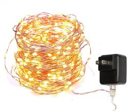 40 Feet Starry String Lights Warm White Color LED's on a Fle