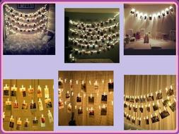 40 LED Card Photo Clip String Fairy Lights Battery Christmas