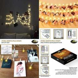 40 LED Photo Clip String Lights For Bedroom Wall Decor┃Bat