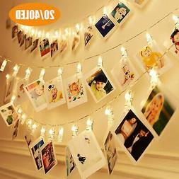 40 LED Photo Clip String Lights Fairy Lights Wire Wall Decor